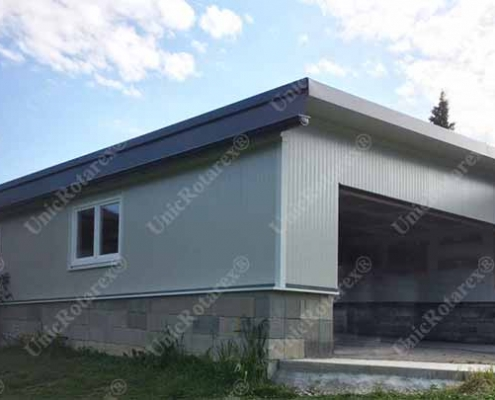 steel structure carport in Austria