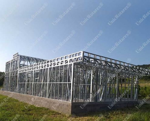 Steel structure for modern house
