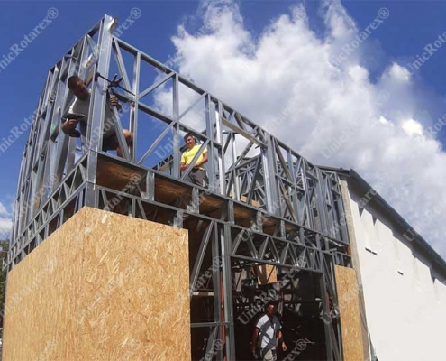 Steel structure for duplex house