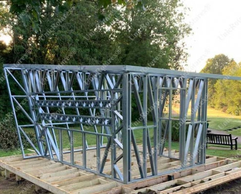 Steel structure for garden house