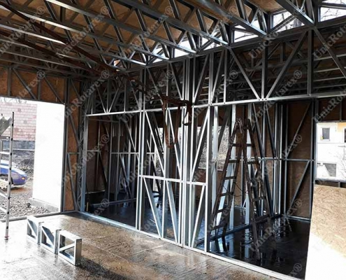 light steel structure view from inside