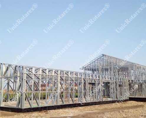 Steel framing for agroindustrial building