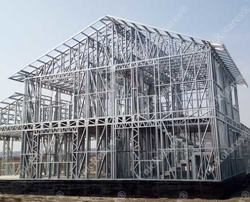 Agroindustrial building with lightweight steel structure
