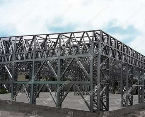 industrial building with steel structure