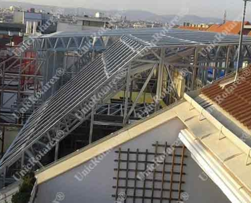 steel structure for attic