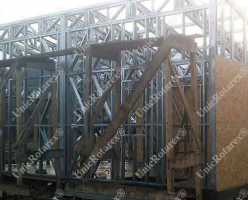 Carport with steel structure