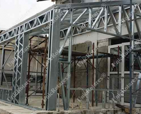 steel structure for extension
