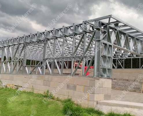 Steel structure for garage in Austria