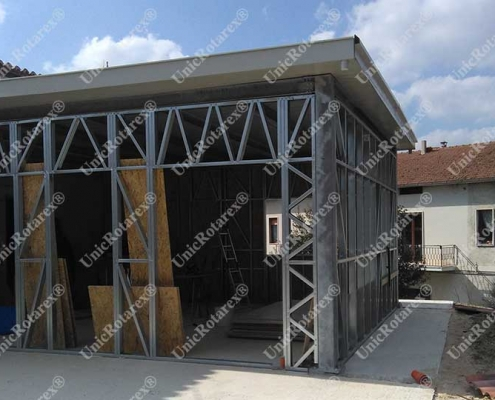 steel structure for garage