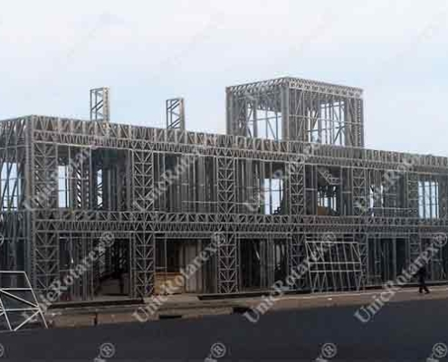 steel structure for industrial building portfolio of Unic Rotarex®