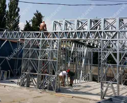 Insudtrial buildibg with steel structure