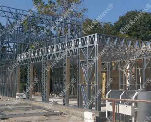 steel structure for restaurant