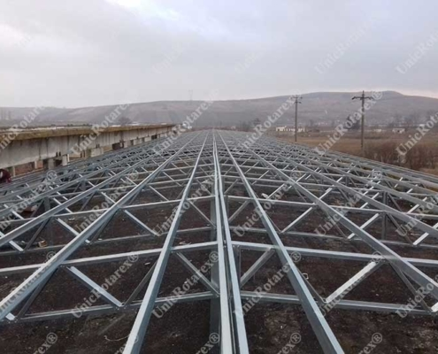 steel structure of roof