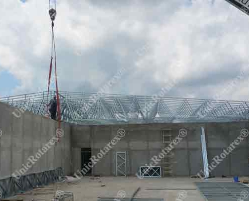 steel structure for roof