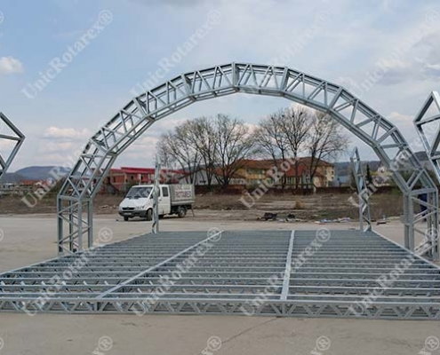 light steel structure for advertising stand