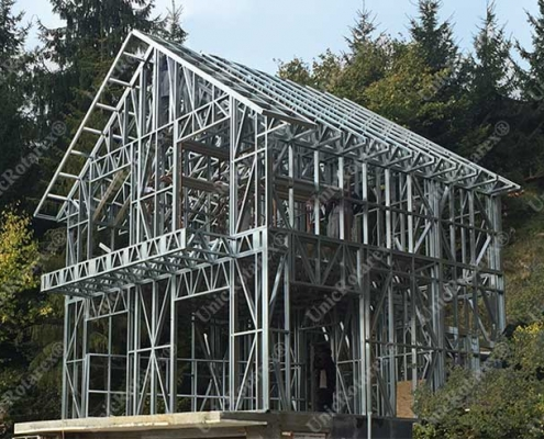 steel structure for holiday house