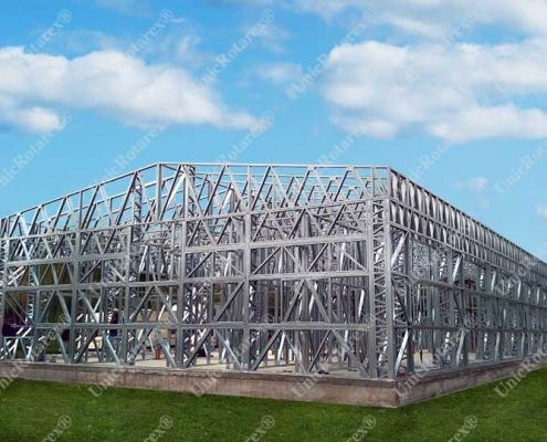 Steel frame industrial building