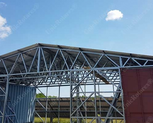 steel structure for deposit