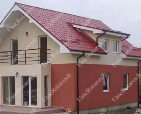 one story house with steel structure