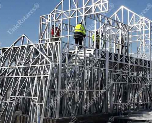 steel structure for one story house