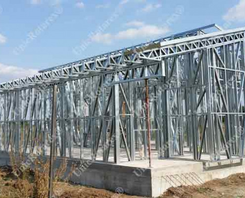 house with light steel structure