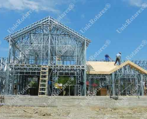 steel structure for ground floor house