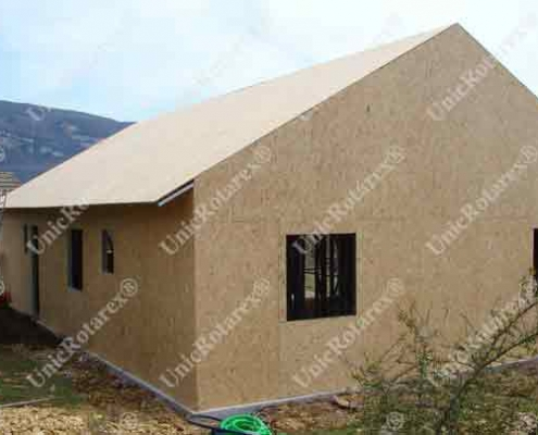 semifinished house with steel structure