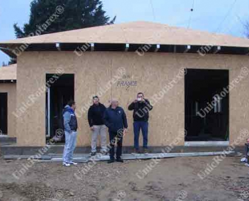 steel structure for semifinished house