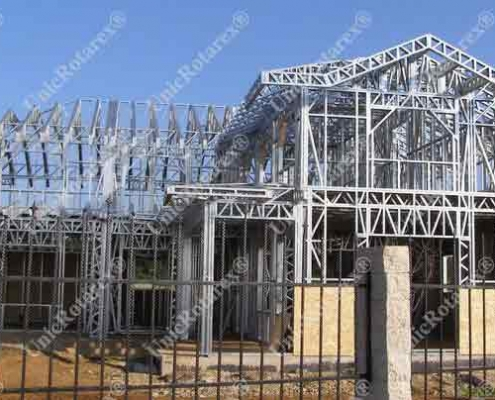 steel structure for one storey house