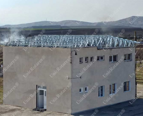 lightweight steel structure for roof