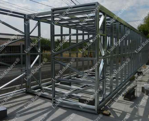 steel structure for storage container