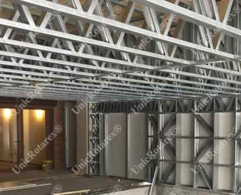 steel structure for pool cover