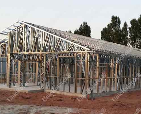 steel structure for veterinary clinic France portfolio of Unic Rotarex®