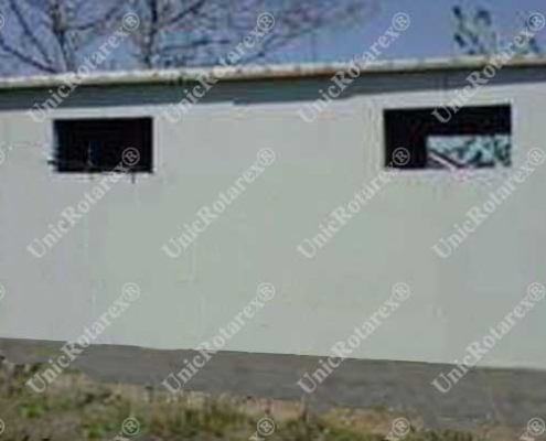 Warehouse with steel structure