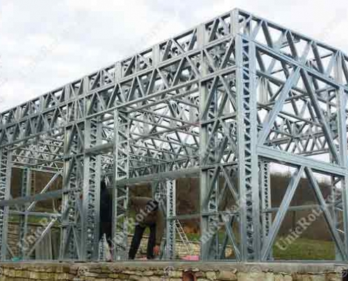 warehouse with light steel structure