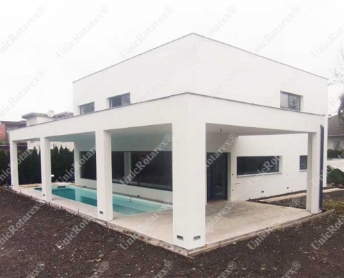 steel structure for swimming pool cover