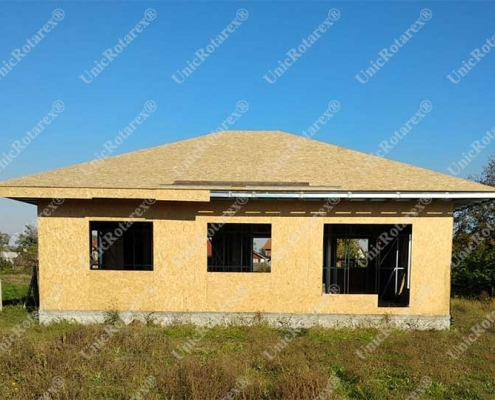 Light steeel structure for house plated with OSB