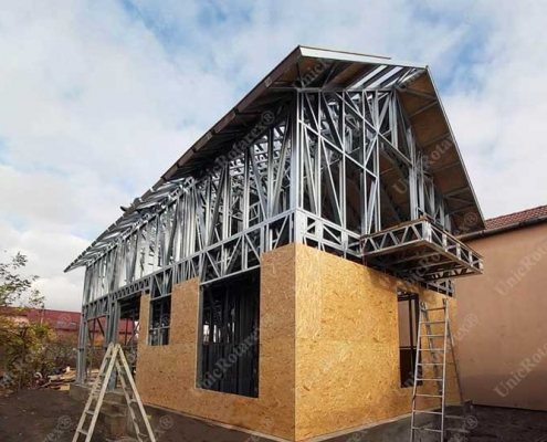 Light steel structure for house