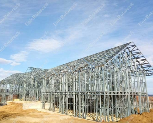 Light steel structure for pension