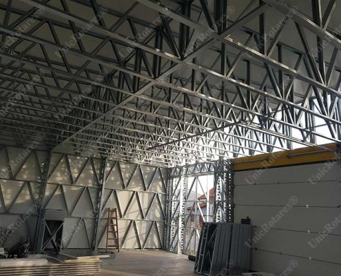 Interior of lightweight steel structure industrial building