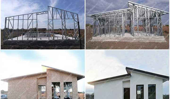 Steel house built by one man