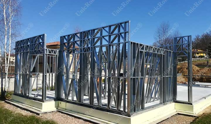 Steel structure for groundfloor house