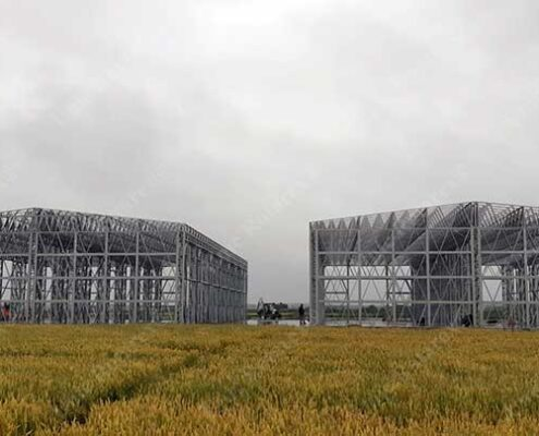 Lightweight steel structure for agroindustrial buildings