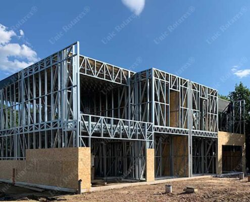 Light steel structure for duplex house