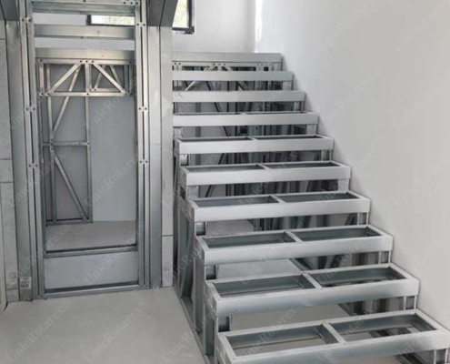 Lightweight steel structure for stairs