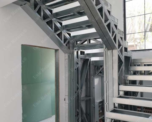 Interior stairs made of lightweight steel structure