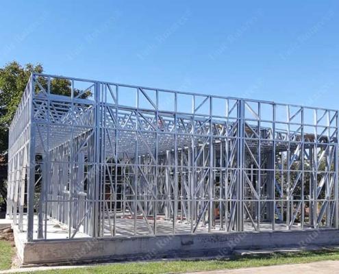 Assembled lightweight steel structure