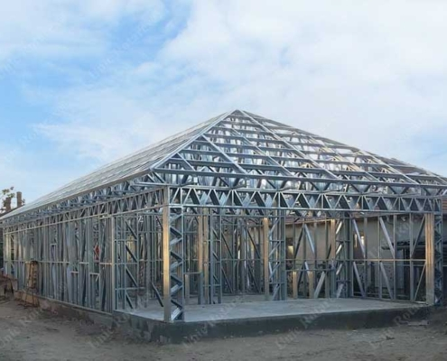 Light steel structure for ground floor house