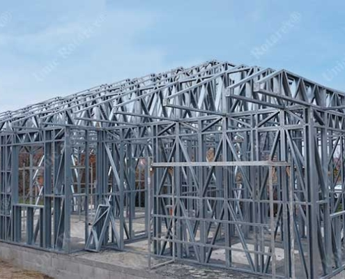 Groundfloor steel structure for house
