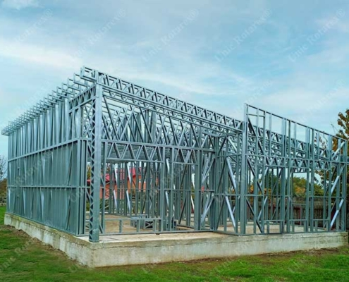 Assembled light steel structure for house
